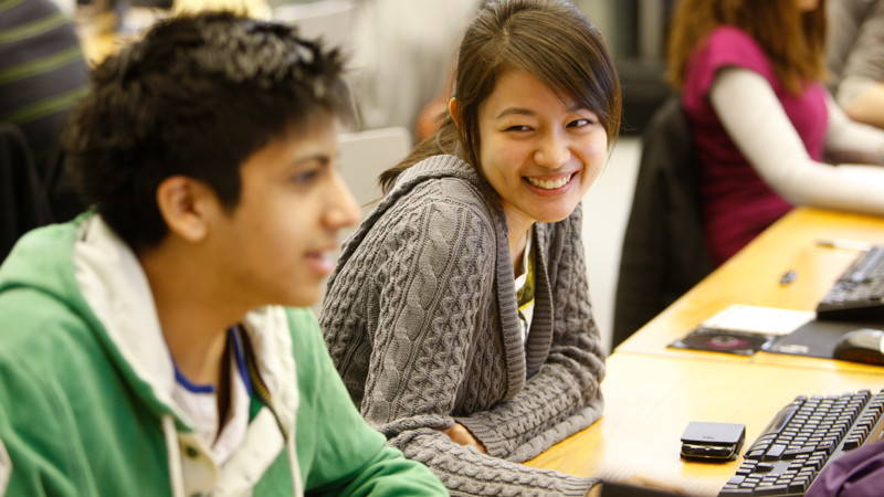 Students in the libary