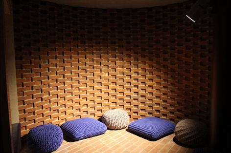 The meditation Cave with cushions