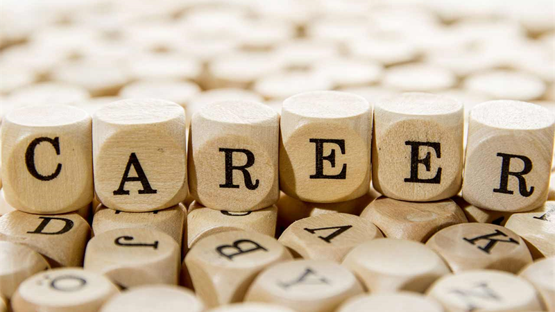 'Career' spelt in wooden blocks