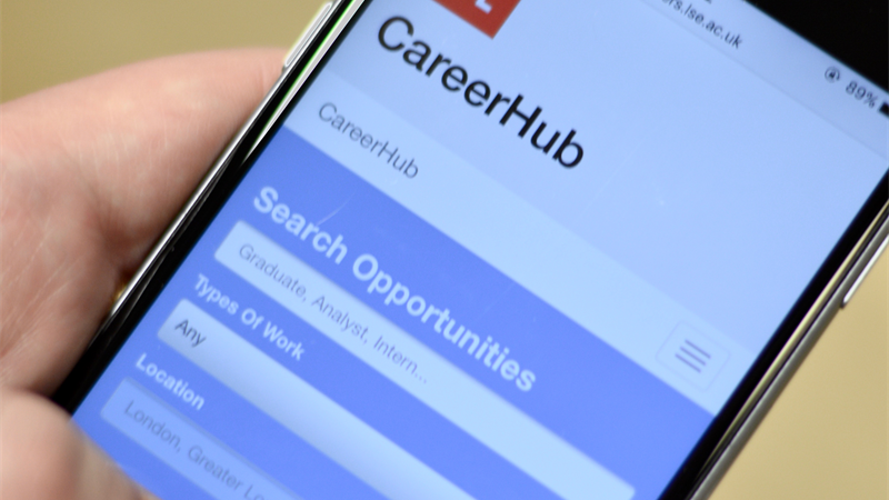 CareerHub job search screen mobile