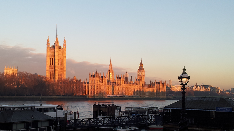 Houses of Parliament in sunrise