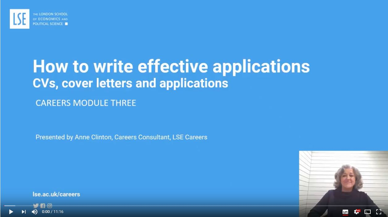 How to write effective applications