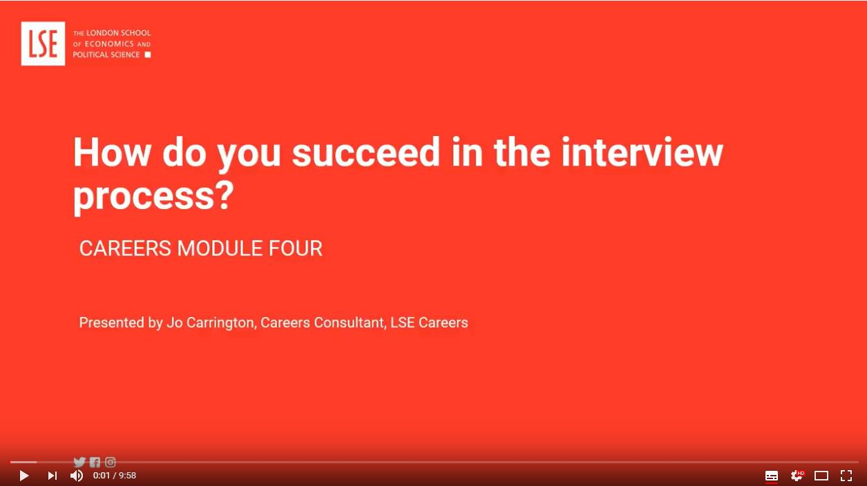 How to succeed in the interview process