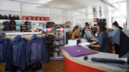 Inside the LSE Students Union shop