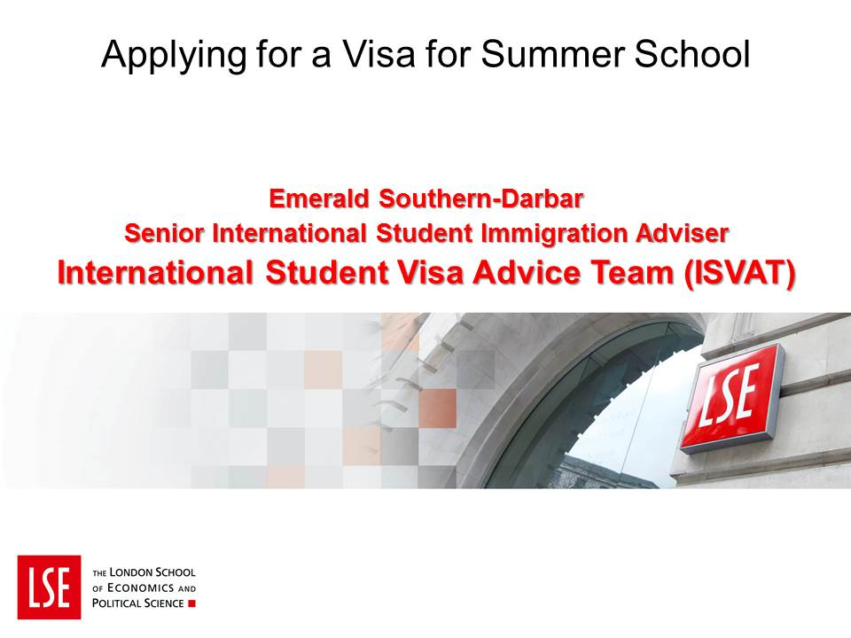 Visas for Summer School and Executive Education Courses