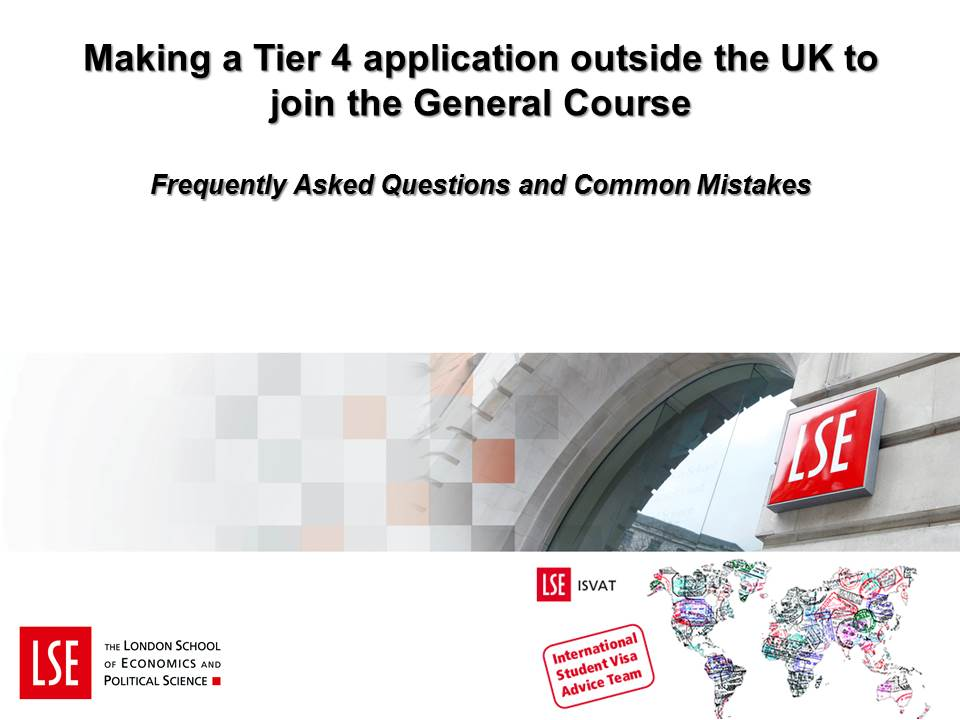 How to apply for a Tier 4 (General) visa for LSE
