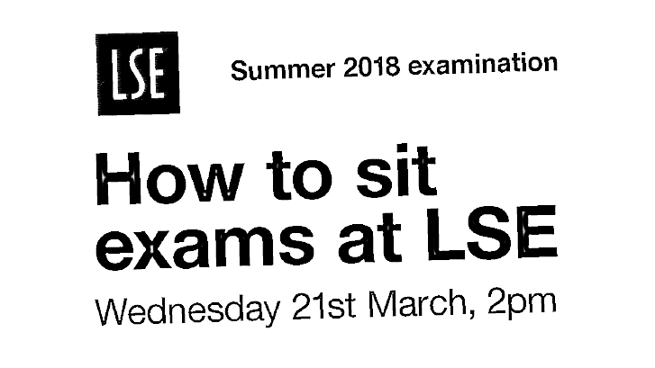 how to sit exams at lse landscape website