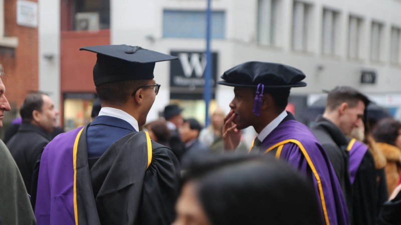 LSE masters student at graduation