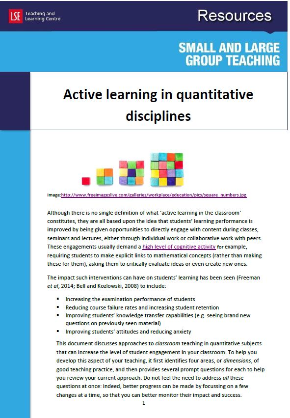 Active learning cover