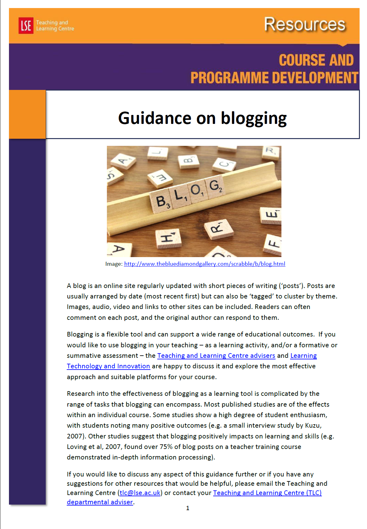Guidance on blogging Cover image