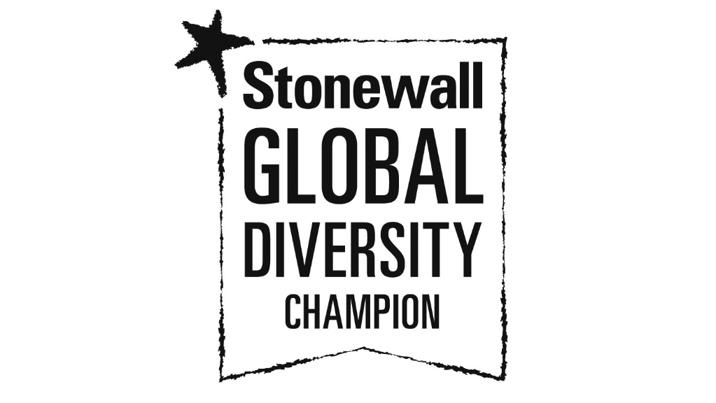Stonewall Diversity Champion logo for LGBT+ role models and allies